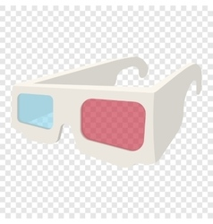 3D Glasses cartoon icon vector image