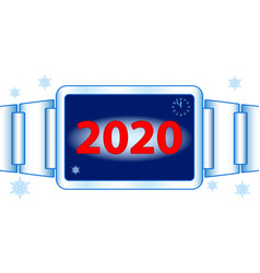 Abstract 2020 watch vector