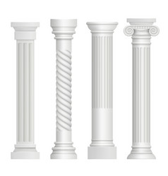antique column historical greek pillars ancient vector image
