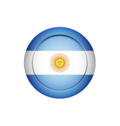 argentinian flag on the round button vector image