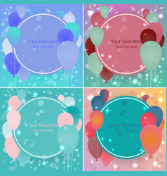 balloons sale business template for web and print vector image