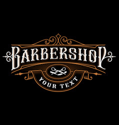 Barbershop logo design vector