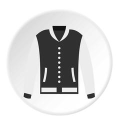 Baseball jacket icon circle vector