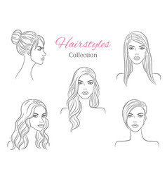 beautiful young women with fashion trendy vector image