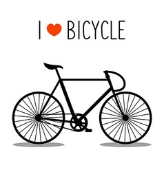 bicycle design vector image