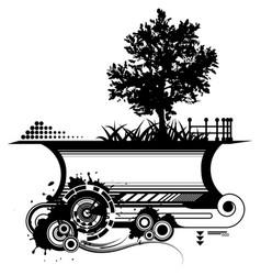 black tree sign vector image