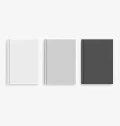 blank black and white realistic book mockup vector image