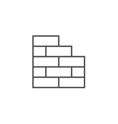 brick wall line outline icon vector image