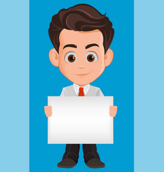 business man cartoon character cute young vector image