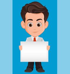 Business man cartoon character cute young vector