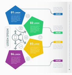 business presentation concept with 4 options web vector image