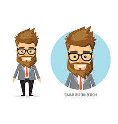 Businessman with beard in formal suit vector