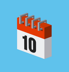 calendar isometric desig vector image