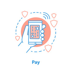 cashless payment concept icon vector image