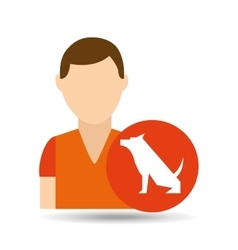 Character pet training dog still vector