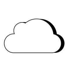 cloud unlocked padlock vector image