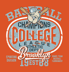 college baseball bulldog junior team vector image