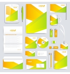 Colorful set of corporate identity template vector