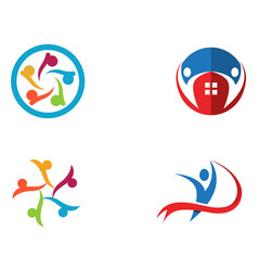 Community people care logo and symbols template vector