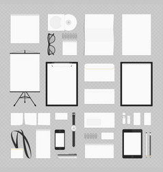 crporate identity template set vector image