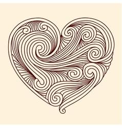 Decorative retro heart vector