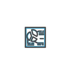 diagram icon line design e commerce icon vector image