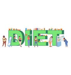 Diet typography banner template flat vector