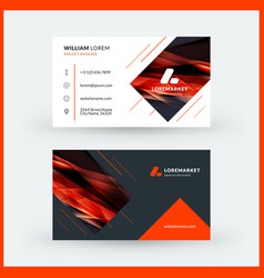 Double-sided horizontal modern business card vector