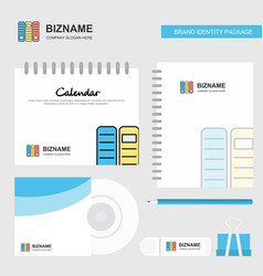 files logo calendar template cd cover diary and vector image