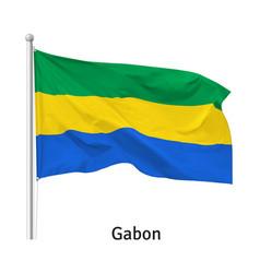 flag gabonese republic vector image