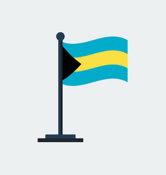 flag of bahamasflag stand vector image