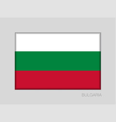 Flag of bulgaria national ensign aspect ratio 2 vector