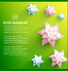 floral decorations background vector image