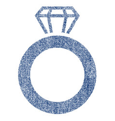 Gem ring fabric textured icon vector