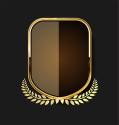 Golden shield and laurel wreath retro design 13 vector