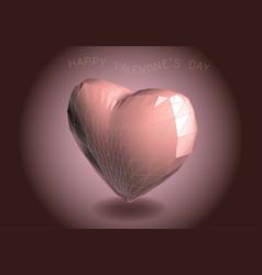 heart on dark vector image