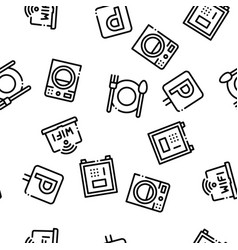 hostel seamless pattern vector image