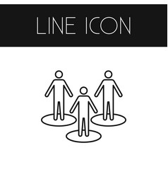 Isolated people outline partner element vector