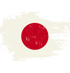 Japan scratched flag vector