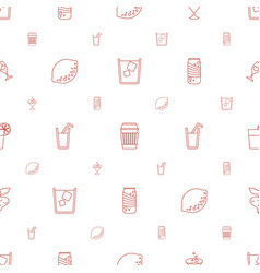 juice icons pattern seamless white background vector image