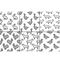 kids seamless pattern animals vector image