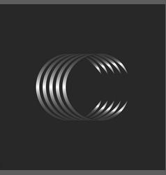 letter c initial monogram logo calligraphic vector image