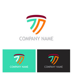 Letter t abstract line logo vector