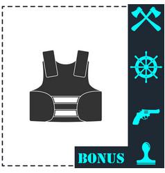 life vest icon flat vector image