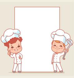 Little chefs vector