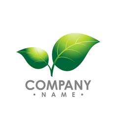 Logo concept leafs logo abstract sign logo vector