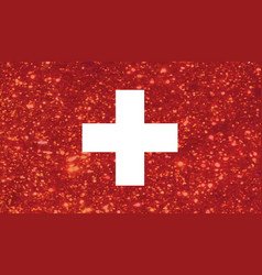 Luxury red glitter swiss switzerland country flag vector