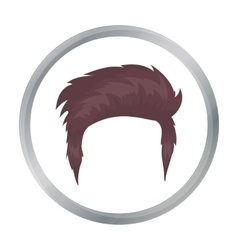 Man s hairstyle icon in cartoon style isolated on vector
