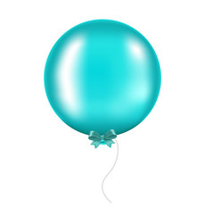 mint bow with balloon vector image