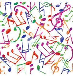 music pattern notes and signs seamless vector image